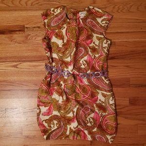 Milly of New York Silk Paisley Shift Dress